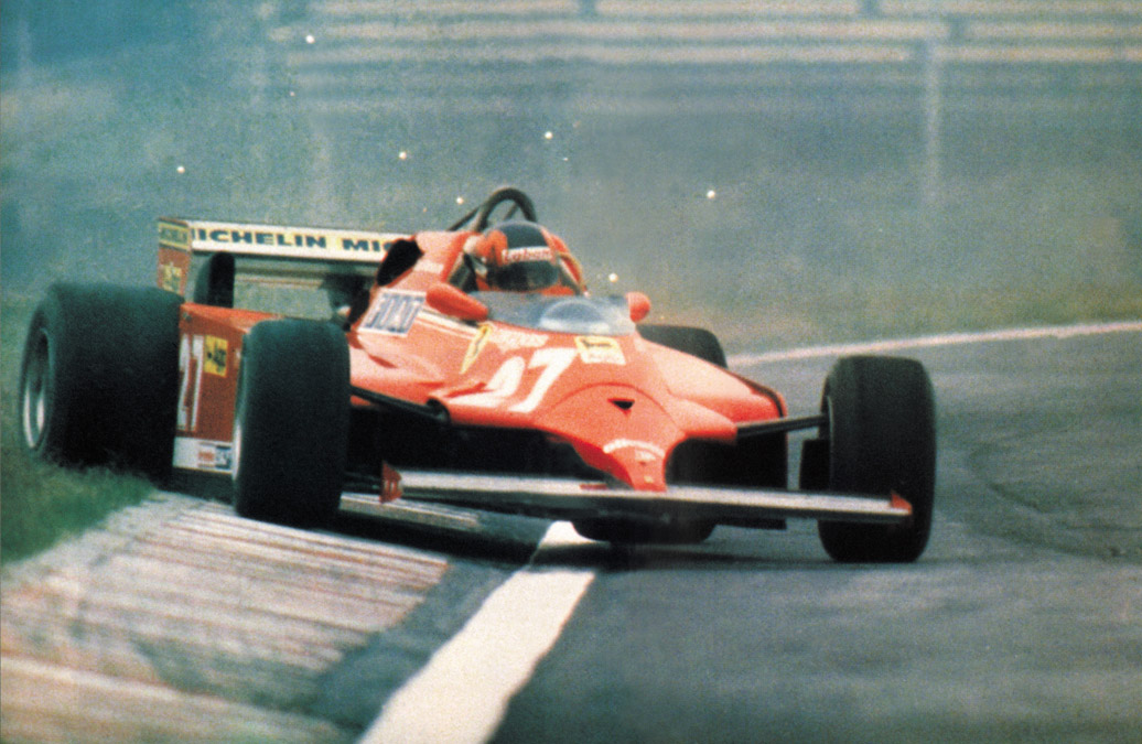Gilles Villeneuve pilotando a Ferrari - by autoandrive.com