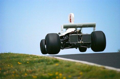Com o Hesketh no GP da Alemanha de 1975