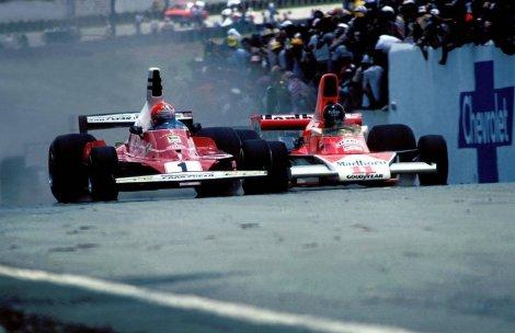 GP dos Estados Unidos 1976. um dos muitos duelos entre Lauda e Hunt