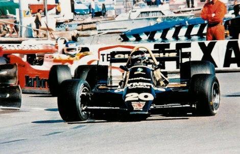 Com o Wolf no GP do Mónaco de 1979
