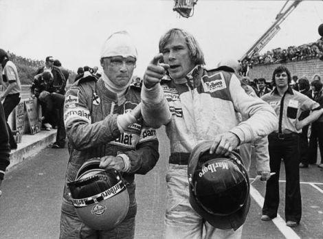 """Niki Lauda e James Hunt: amigos e rivais a sua história foi imortalizada no filme """"Rush"""""""