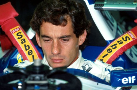 Ayrton Senna, momentos antes da sua última largada, em Imola