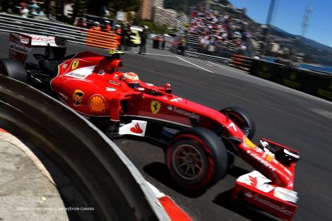 Kimi Raikkonen foi 6º atrás de Fernando Alonso