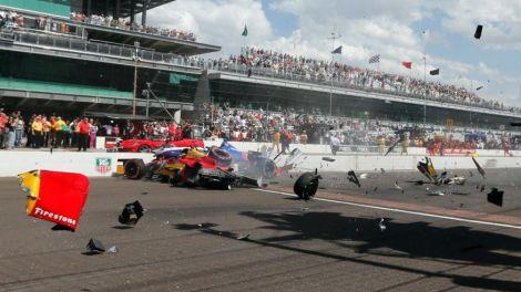 O GP de Indianapolis foi palco de alguns acidentes violentos