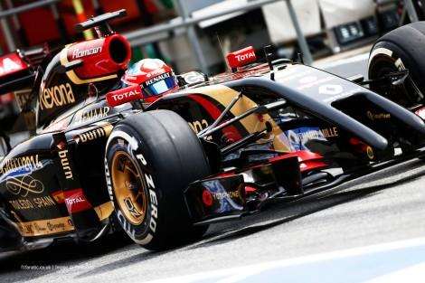 Romain Grosjean finalmente levou a Lotus aos pontos