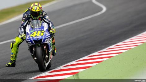 Valentino Rossi liderou parte da prova mas teve que se contentar com o 2º lugar