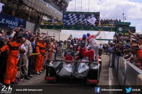 Lotterer/Fässler/Tréluyer venceram pela 3º vez em Le Mans