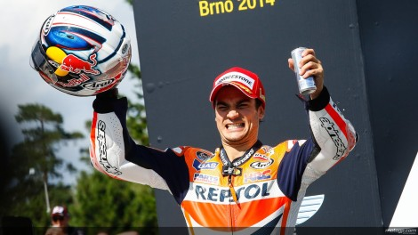 Dani Pedrosa festeja o seu 26º triunfo no MotoGP