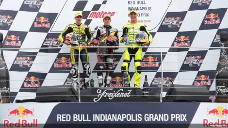 Kallio ladeado por Viñales e Aegerter no pódio das Moto2