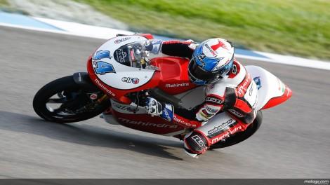 Miguel Oliveira recuperou até 7º e esteve na luta pelo triunfo nas Moto3