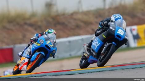 """Romano Fenati bateu """"in extremis"""" Alex Marquez no Moto3"""