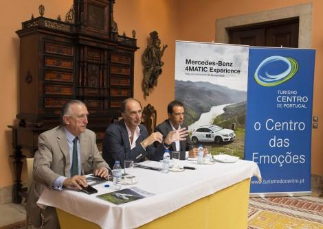 Ramon, Luís Celíneo e Jorge Aguiar durante a conferência de Imprensa no Palácio Palhavã