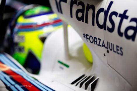 Mensagens de apoio a Bianchi expressas pelos pilotos em Sochi quando o francês poderá estar já entre a vida e a morte