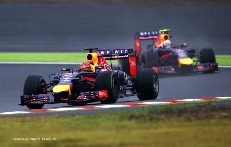 Sebastian Vettel foi 3º na frente de Daniel Ricciardo