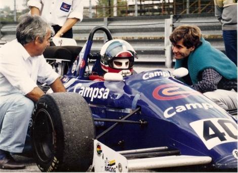 Luis Villamil testou um dos f3000 da Pavesi Racing