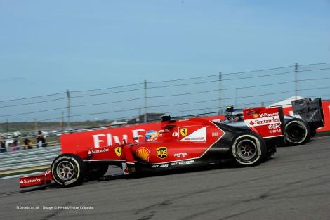 Fernando Alonso foi apenas 6º com  Ferrari