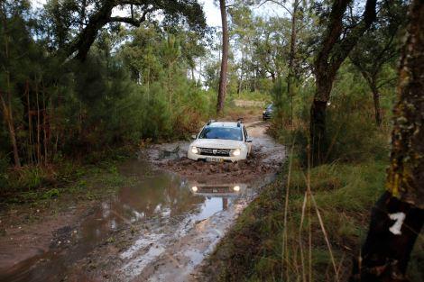 A chuva proporcionou momentos de alguma adernalina em zonas com lama