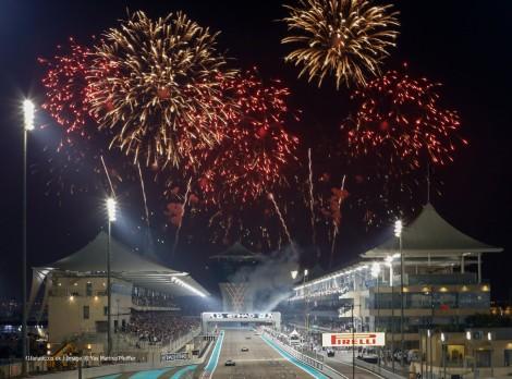 A festa de encerramento da temporada comçou mal acabou a corrida no Abu Dhabi