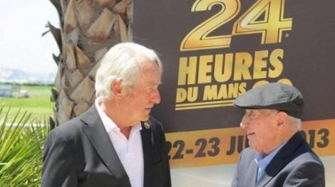 Com Gérard Larrousse nas 24 Horas de Le Mans de 2013