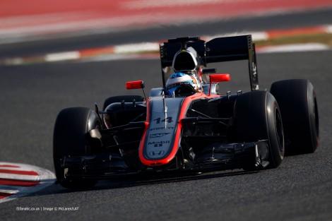 Os trabalhos da McLaren terminaram com o acidente de Fernando Alonso