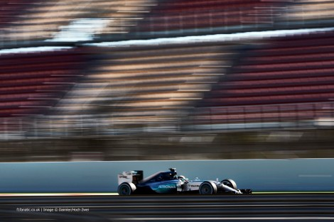 Lewis Hamilton foi o mais rápido em Barcelona