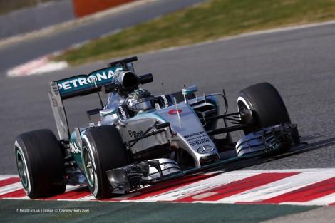 Nico Rosberg foi o mais rápido no segundo dia de testes em Barcelona
