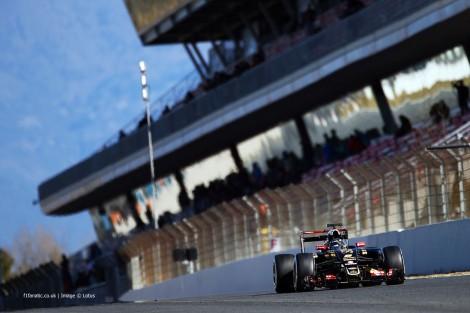 Romain Grosjean foi o mais rápido nos testes em Barcelona