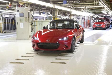 O novo Mazda MX-5 já começou a ser produzido