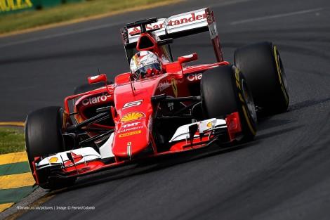 Sebastian Vettel foi 3º na sua estreia com a Ferrari