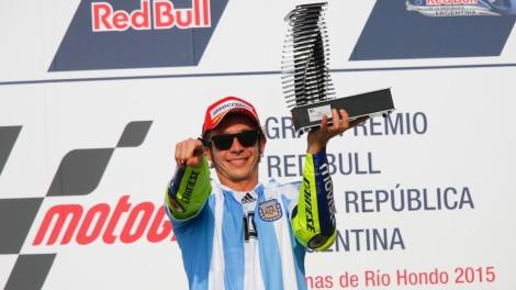Valentino Rossi conquistou na Argentina a sua 110ª vitória no MotoGP