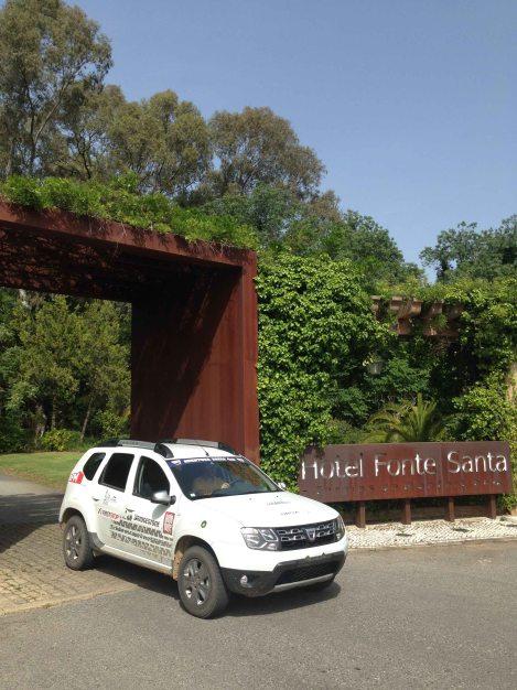 O Hotel Fonte Santa nas Termas de Mofortinho para ser o centro das operações