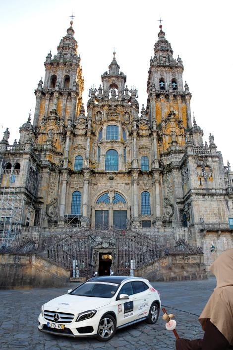 O Mercedes-Benz 4MATIC Experience vai terminar em Santiago de Compostela