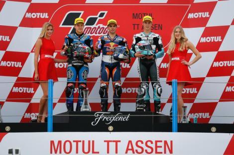 Miguel Oliveira voltou a subir ao degrau mais alto do pódio no Moto3