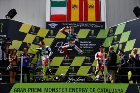 Jorge Lorenzo celebra a sua quarta vitória seguida