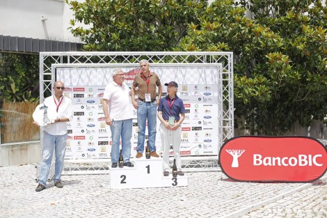O pódio final: Francisco Carvalho (1º), Araújo Pereira (2º) e Fernando Baptista (3º)