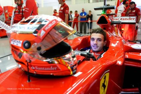 Bianchi fez 10 dias de etstes com a Ferrari (Na foto, em Silverstone)