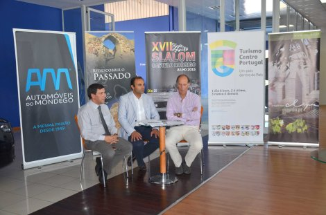 Orlindo Serra, Paulo Langrouva e Luís Celínio na conferência de Imprensa