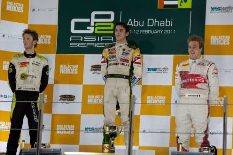 No pódio do Abu Dhabi (GP2 Asia)