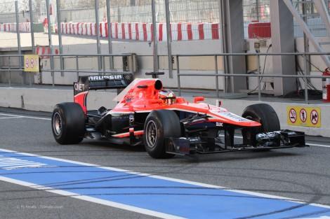 Jules Bianchi com a Marussia em 2014