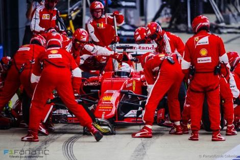 Sebastian Vettel garantiu mais um pódio para a Ferrari