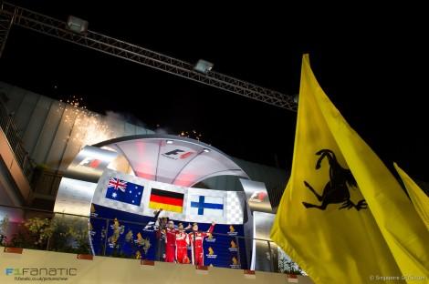 A Ferrari colocou os seus dois pilotos no pódio com Raikkonen em 3º lugar