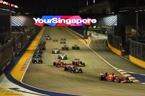 Sebastian Vettel liderou a corrida desde o arranque