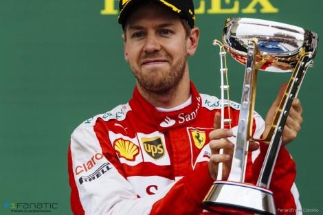 Vettel voltou ao pódio mas isso não chegou para adiar o título de Hamilton
