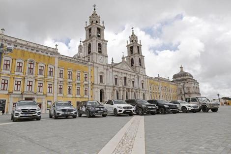 O Palácio Nacional de Mafra foi visitado durante mais de hora e meia
