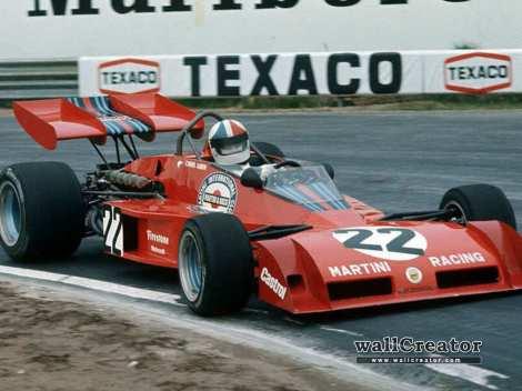 Com o Tecno da Martini Racing em 1973