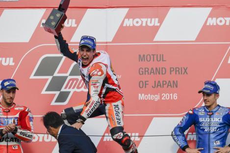 Marc Márquez festeja o seu terceiro título no Moto GP